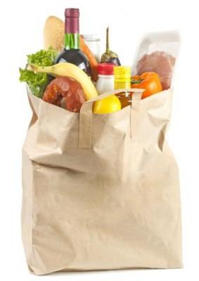 Paper Bag With Food 283x400